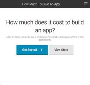 Otreva cost to develop an app calculator