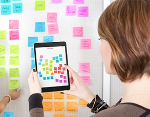 PostItPlus App used to create a digital strategy roadmap