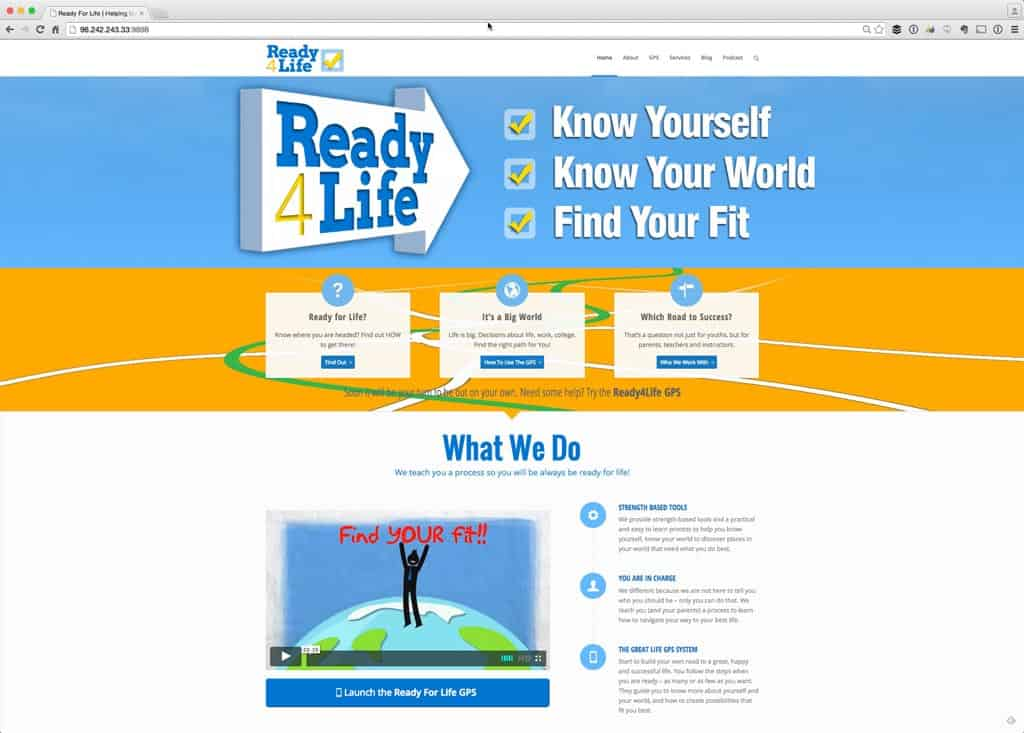 Ready4Life Web Site Development