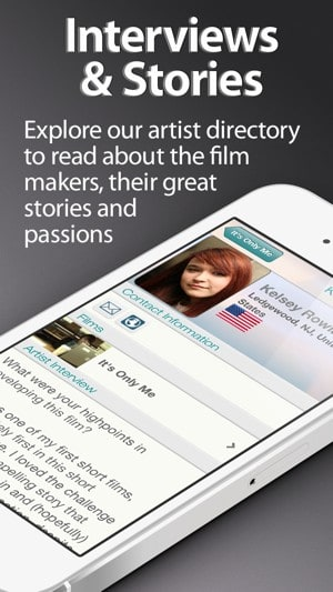 Film makers tell stories on our movie app for iPhone