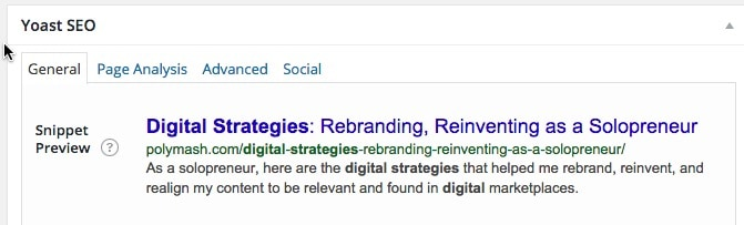 Search Result Snippet - A Good Example