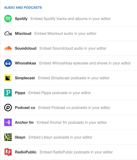 Podcast Platforms Support