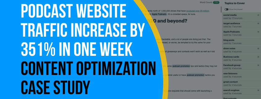 Podcast Website Traffic Increased by 351% in One Week [Content Optimization Case Study]