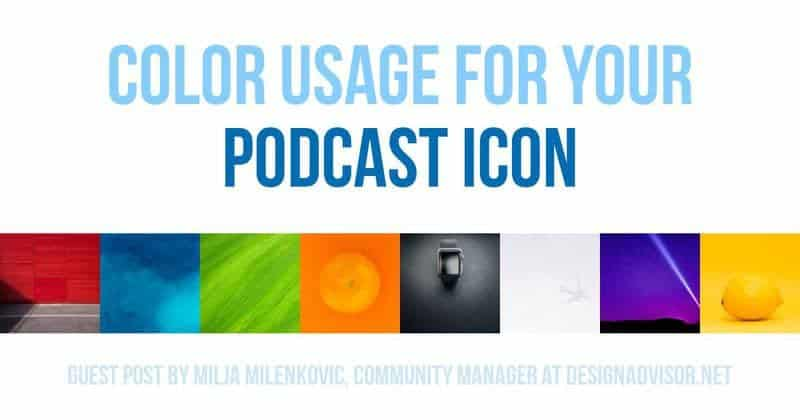 Color usage for podcast cover art and icons