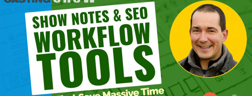 Podcast show notes workflow tools cover
