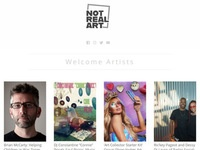 Not Real Art Podcast and Website